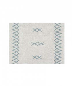 LORENA CANALS - DYWAN DO PRANIA W PRALCE ATLAS NATURAL/VINTAGE BLUE 120X160 CM