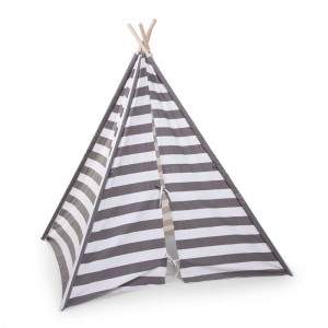 CHILDHOME - NAMIOT TIPI GREY/WHITE STRIPES